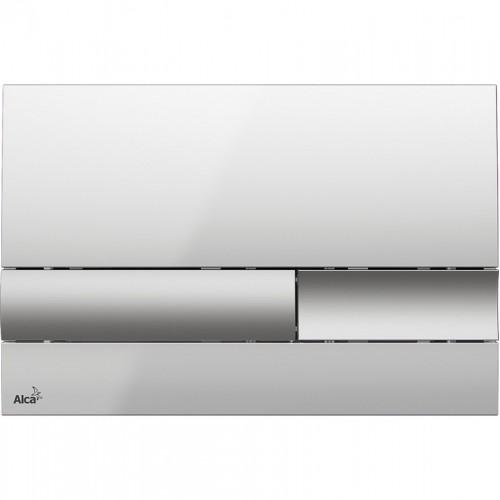 Кнопка управління AlcaPlast M1743 (xром-глянец/мат)