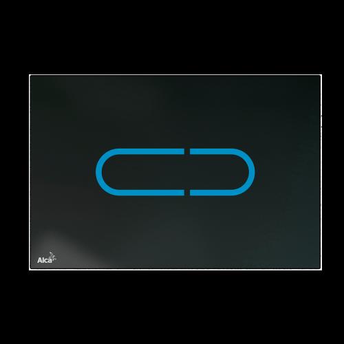 Кнопка управления AlcaPlast NIGHT LIGHT-1-SLIM, стекло-черный