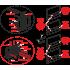 Кнопка управления AlcaPlast M1712-8 (хром матовая/черная)