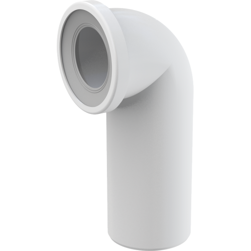 Колено AlcaPlast A90-90, для унитаза 90°