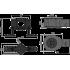Средний сифон AlcaPlast APZ-S9, в комплекте с регулируемыми ногами