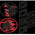Кнопка управления AlcaPlast M471 хром-блестящая
