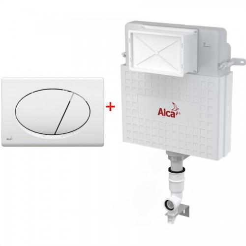 Бачок для унитаза AlcaPlast AM112+кнопка M70 белая