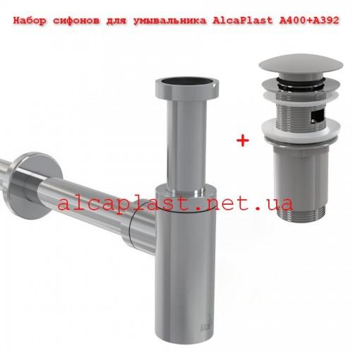 Набор сифонов для умывальника AlcaPlast A400+A392
