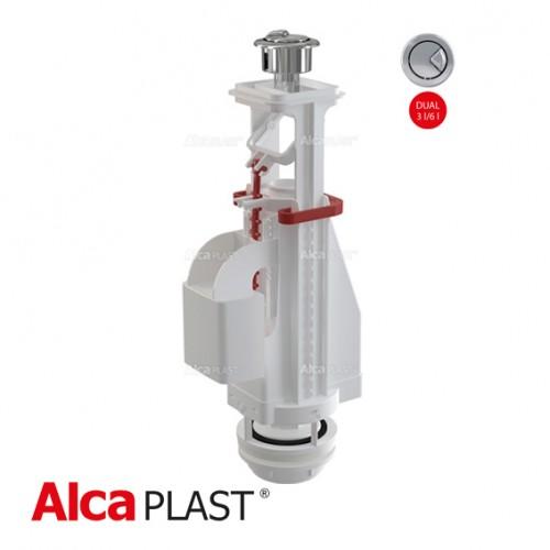 Сливной механизм AlcaPlast A04, с двойной кнопкой